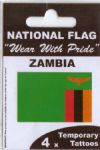 Zambia Country Flag Tattoos.